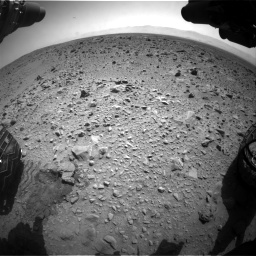 Nasa's Mars rover Curiosity acquired this image using its Front Hazard Avoidance Camera (Front Hazcam) on Sol 431, at drive 724, site number 20