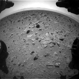 Nasa's Mars rover Curiosity acquired this image using its Front Hazard Avoidance Camera (Front Hazcam) on Sol 431, at drive 742, site number 20