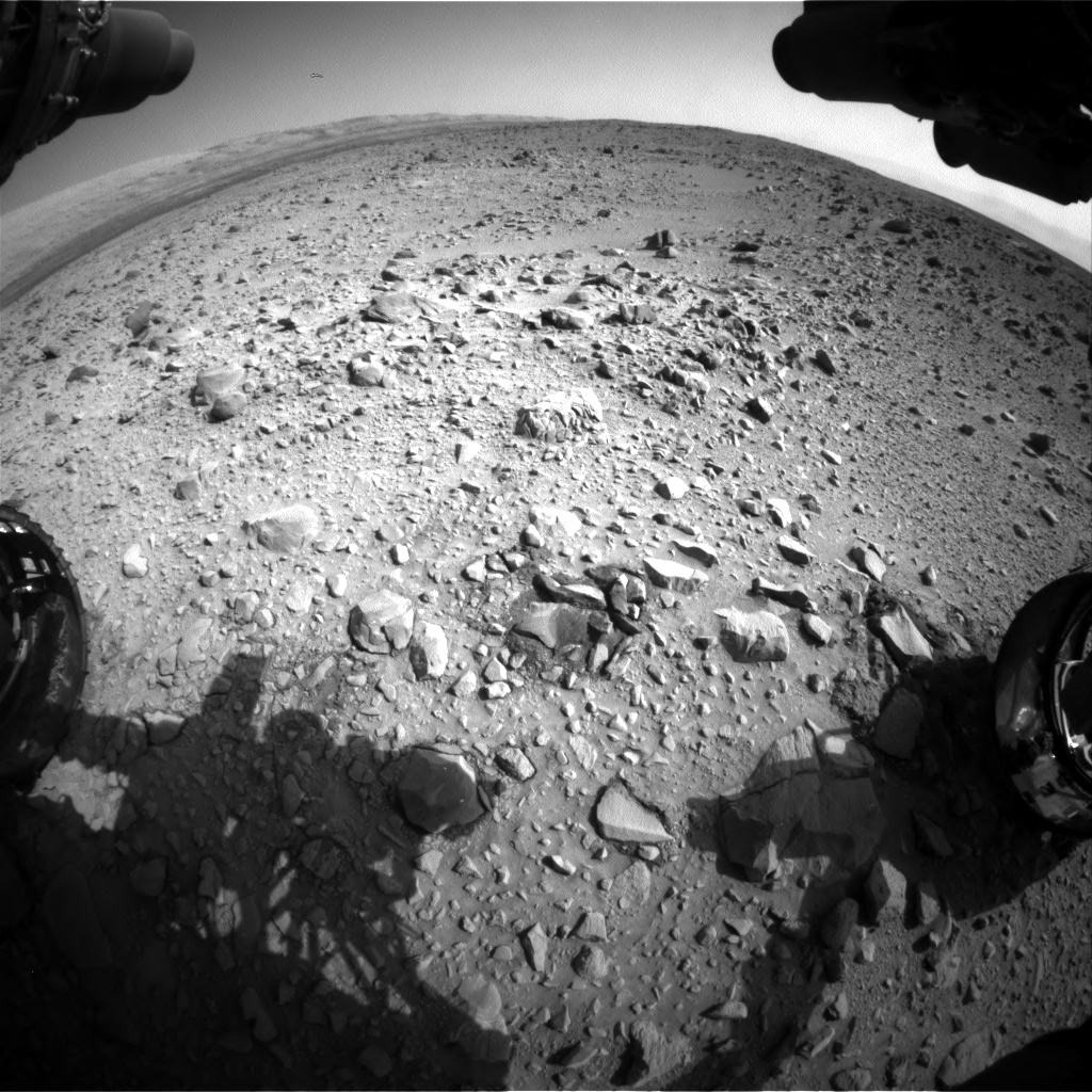 Nasa's Mars rover Curiosity acquired this image using its Front Hazard Avoidance Camera (Front Hazcam) on Sol 431, at drive 764, site number 20