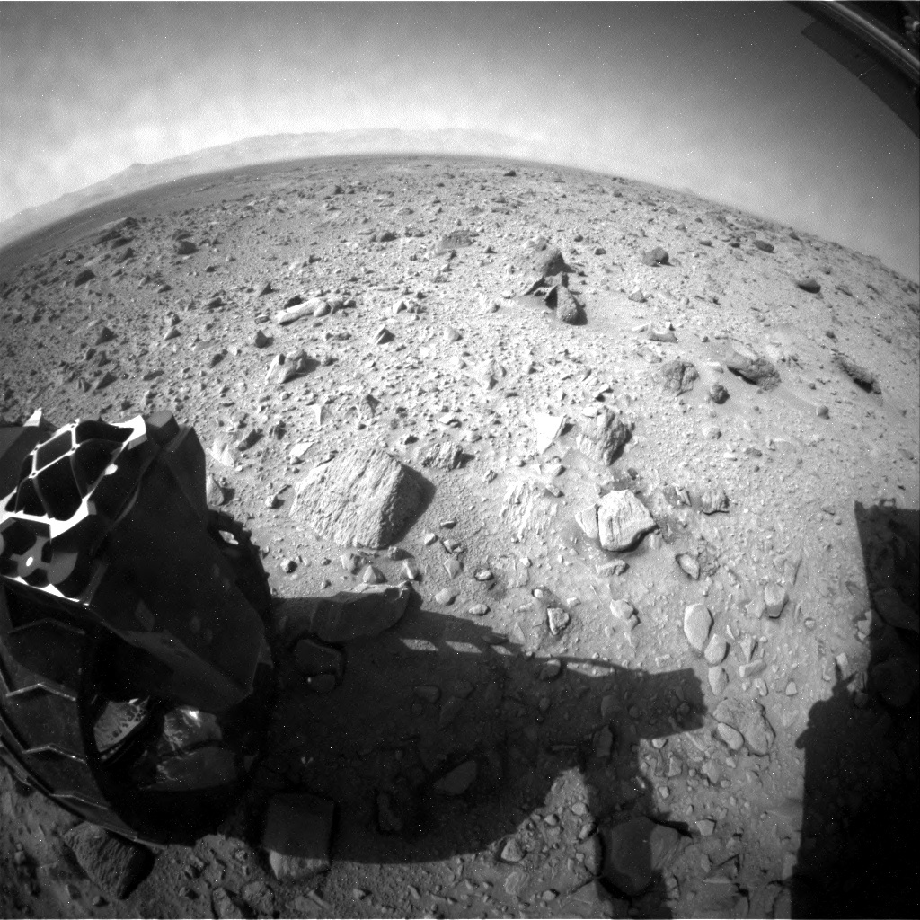NASA's Mars rover Curiosity acquired this image using its Rear Hazard Avoidance Cameras (Rear Hazcams) on Sol 431