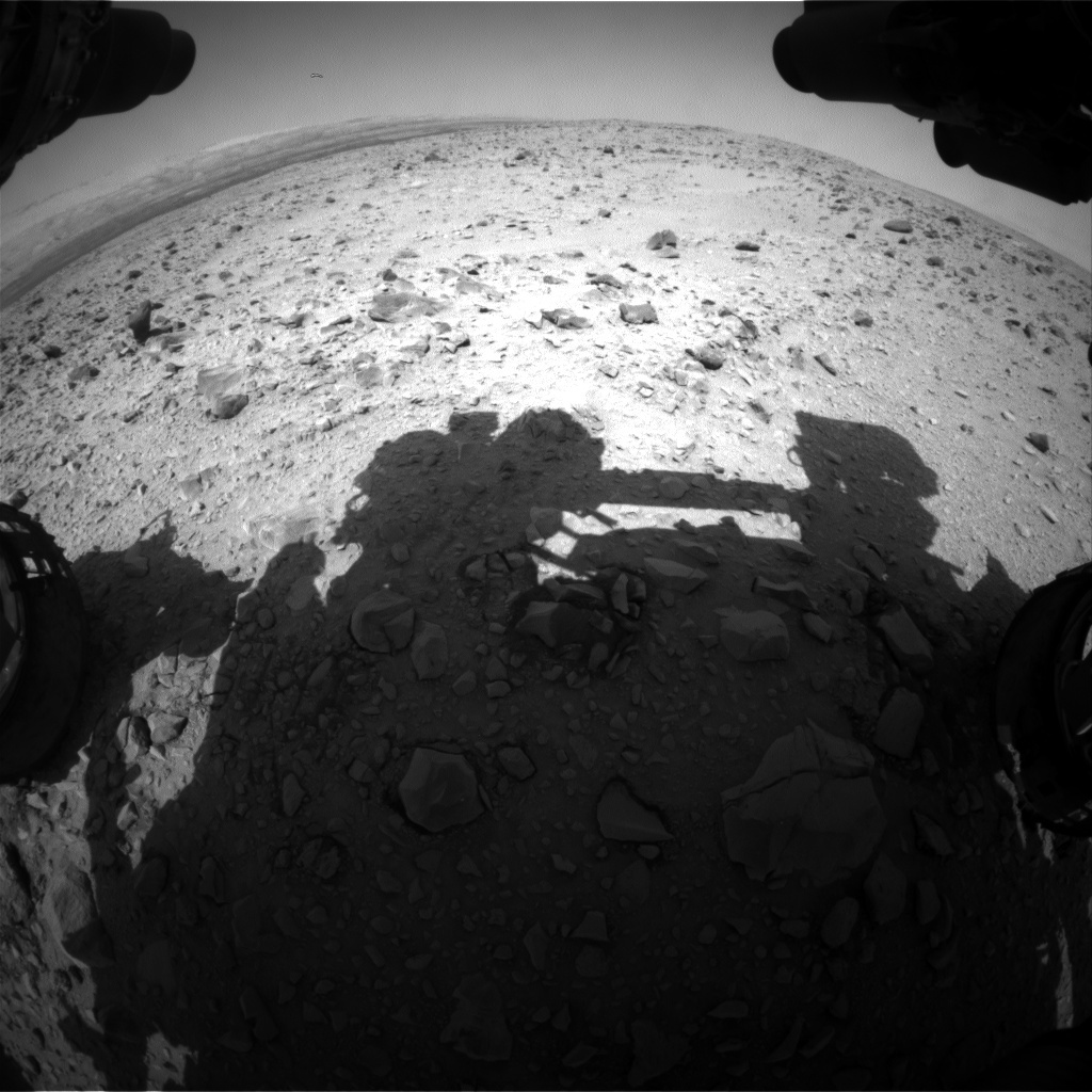 NASA's Mars rover Curiosity acquired this image using its Front Hazard Avoidance Cameras (Front Hazcams) on Sol 432