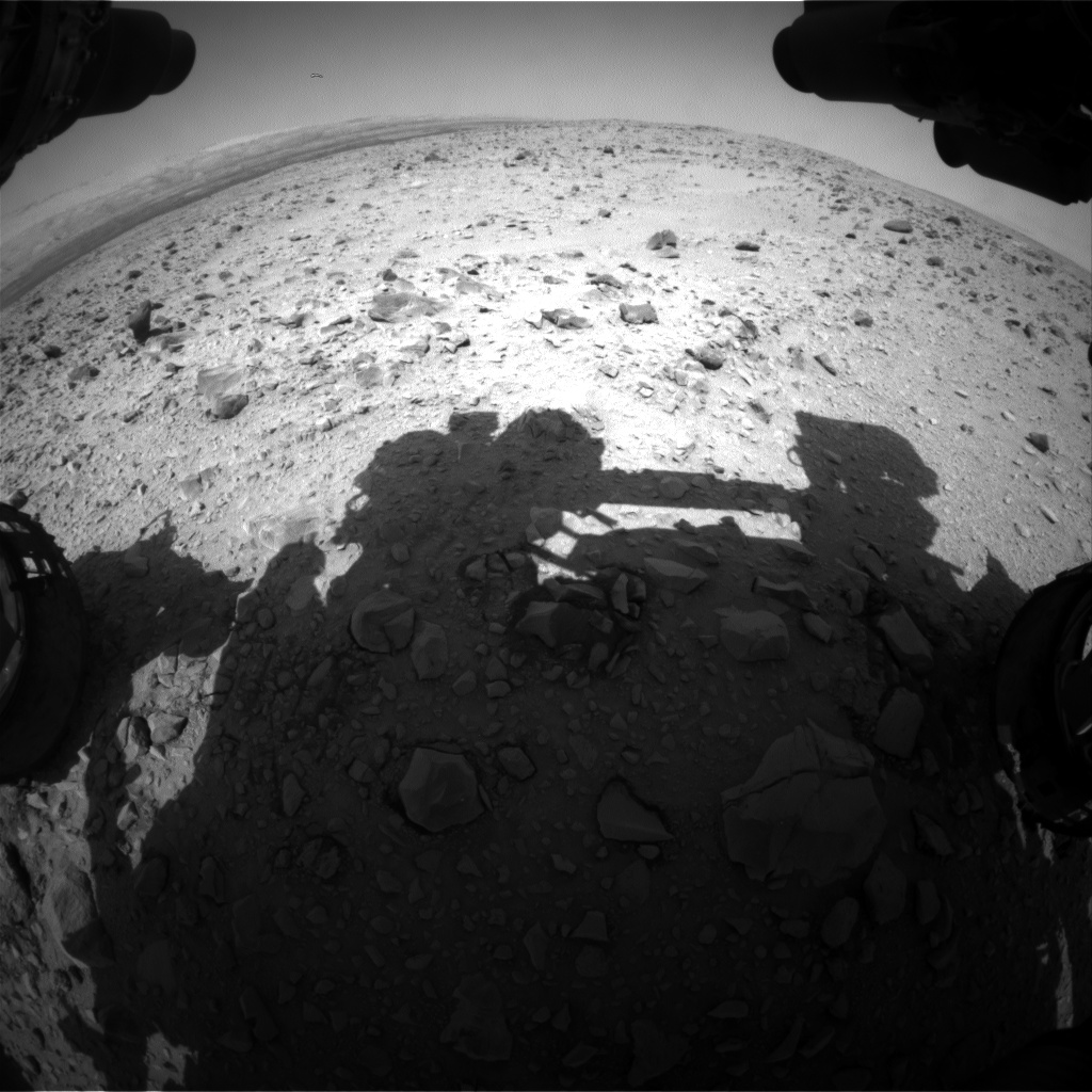 Nasa's Mars rover Curiosity acquired this image using its Front Hazard Avoidance Camera (Front Hazcam) on Sol 432, at drive 764, site number 20