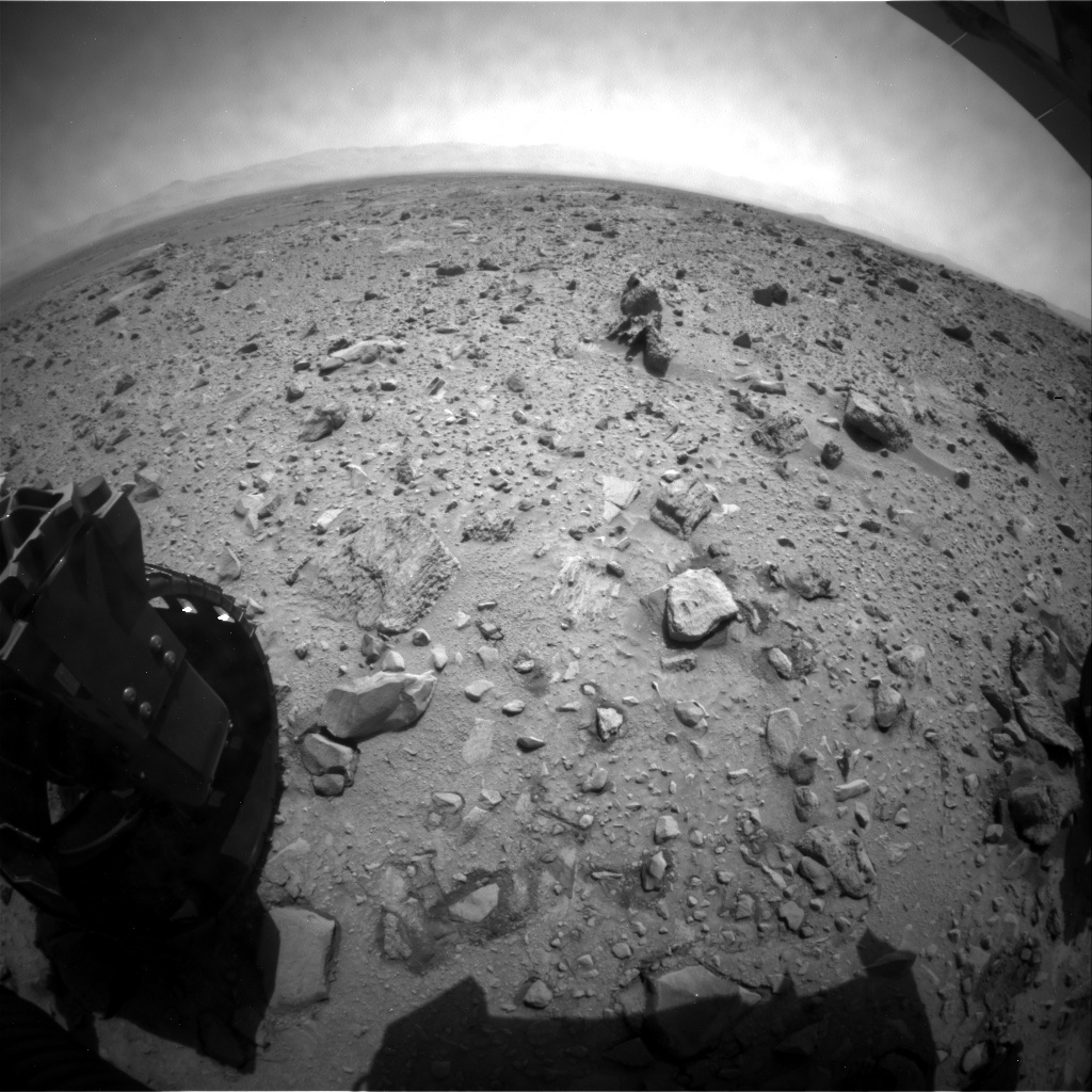 NASA's Mars rover Curiosity acquired this image using its Rear Hazard Avoidance Cameras (Rear Hazcams) on Sol 432