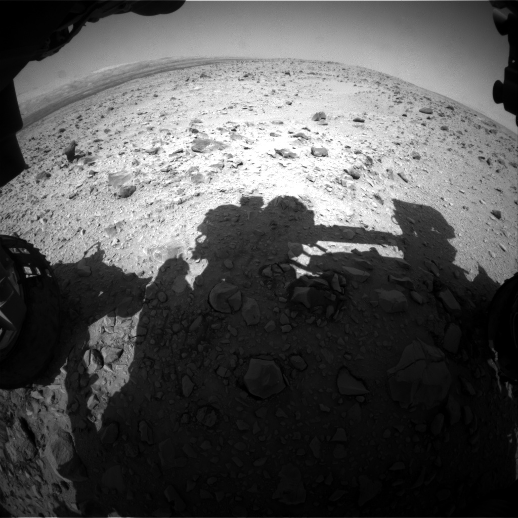 Nasa's Mars rover Curiosity acquired this image using its Front Hazard Avoidance Camera (Front Hazcam) on Sol 433, at drive 764, site number 20