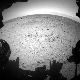 Nasa's Mars rover Curiosity acquired this image using its Front Hazard Avoidance Camera (Front Hazcam) on Sol 433, at drive 1262, site number 20