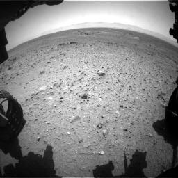 Nasa's Mars rover Curiosity acquired this image using its Front Hazard Avoidance Camera (Front Hazcam) on Sol 433, at drive 1310, site number 20