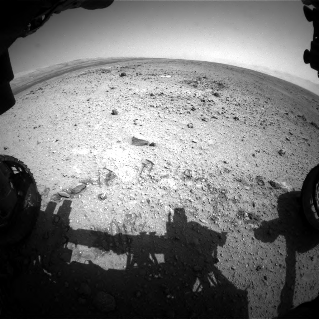 Nasa's Mars rover Curiosity acquired this image using its Front Hazard Avoidance Camera (Front Hazcam) on Sol 433, at drive 0, site number 21