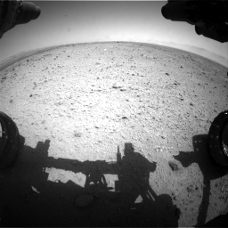 Nasa's Mars rover Curiosity acquired this image using its Front Hazard Avoidance Camera (Front Hazcam) on Sol 433, at drive 1190, site number 20