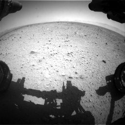Nasa's Mars rover Curiosity acquired this image using its Front Hazard Avoidance Camera (Front Hazcam) on Sol 433, at drive 1208, site number 20