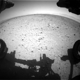 Nasa's Mars rover Curiosity acquired this image using its Front Hazard Avoidance Camera (Front Hazcam) on Sol 433, at drive 1220, site number 20