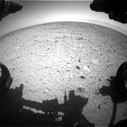Nasa's Mars rover Curiosity acquired this image using its Front Hazard Avoidance Camera (Front Hazcam) on Sol 433, at drive 1238, site number 20