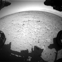 Nasa's Mars rover Curiosity acquired this image using its Front Hazard Avoidance Camera (Front Hazcam) on Sol 433, at drive 1244, site number 20