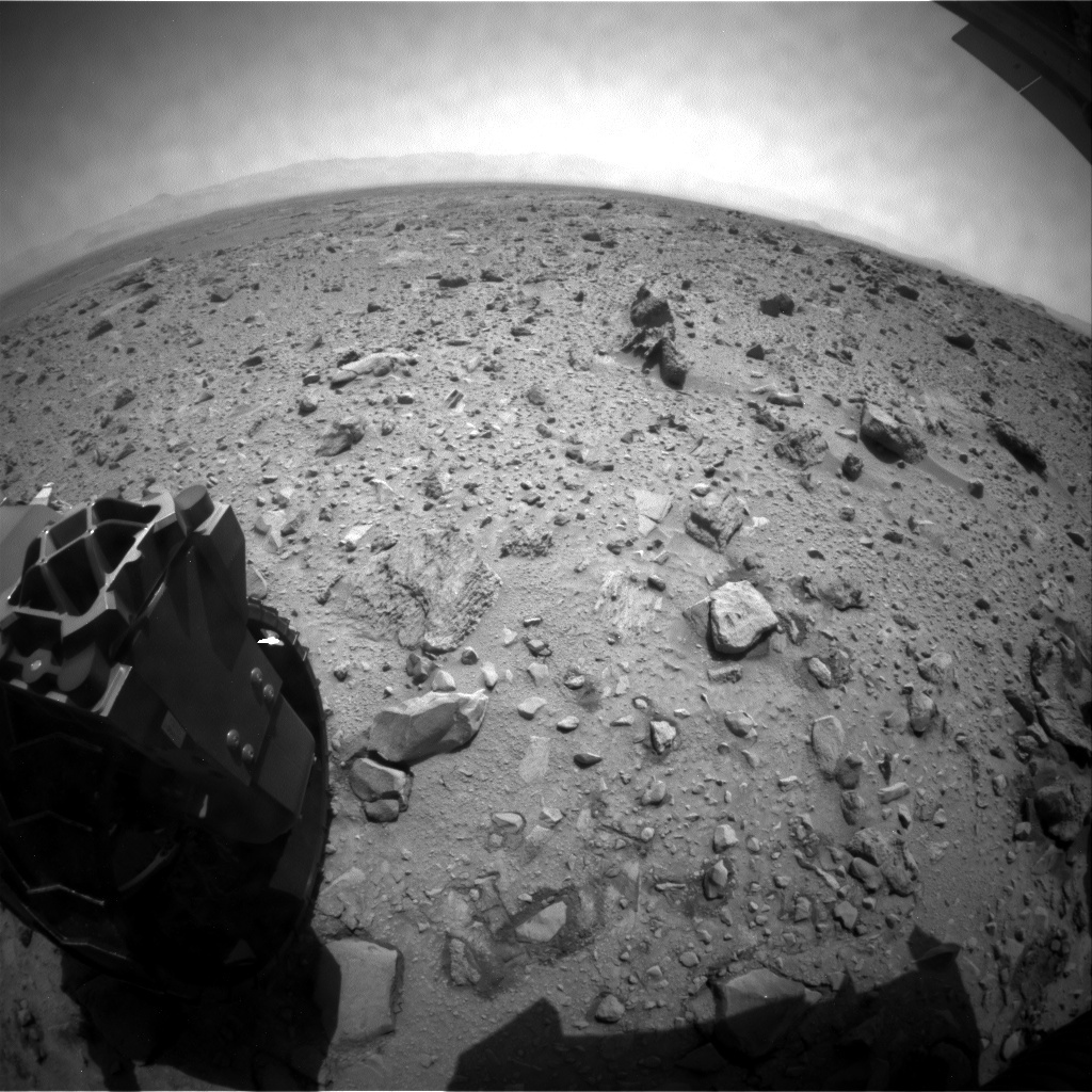 NASA's Mars rover Curiosity acquired this image using its Rear Hazard Avoidance Cameras (Rear Hazcams) on Sol 433