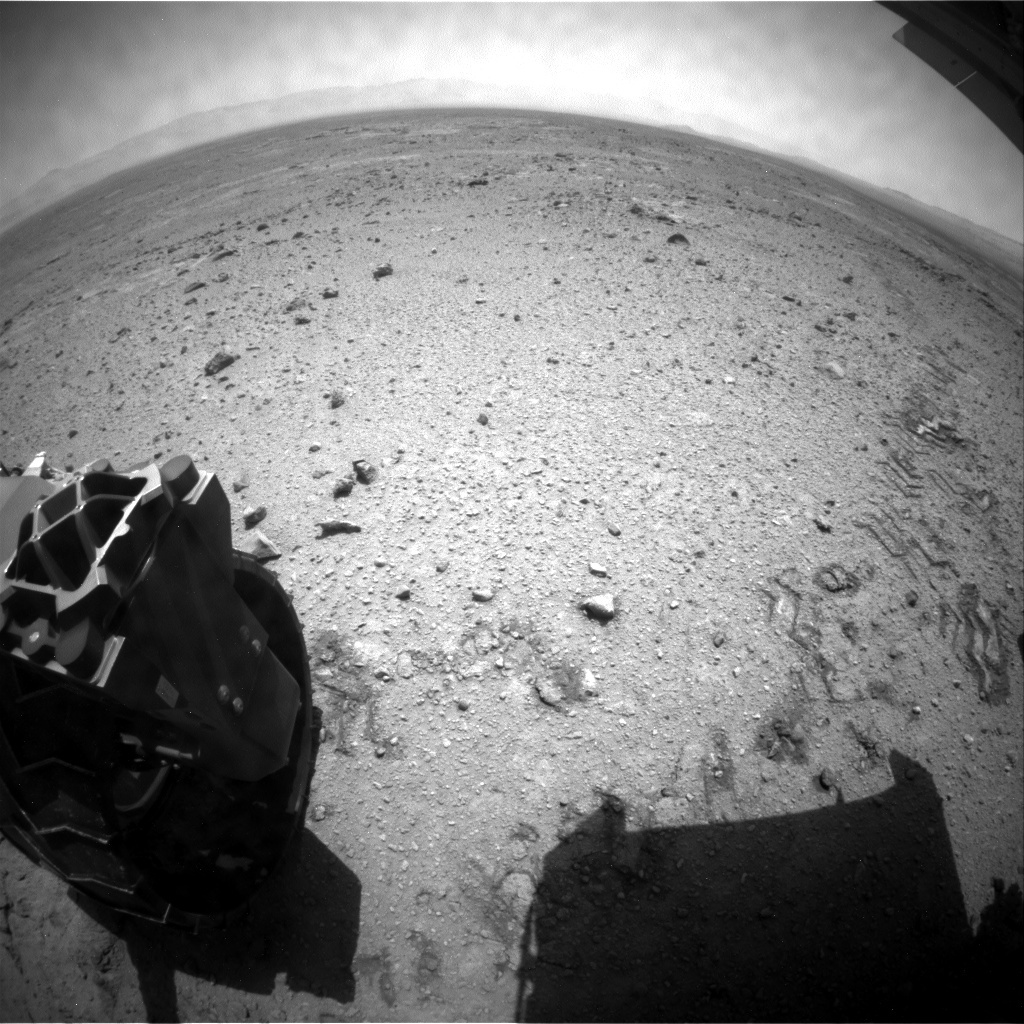 NASA's Mars rover Curiosity acquired this image using its Rear Hazard Avoidance Cameras (Rear Hazcams) on Sol 434
