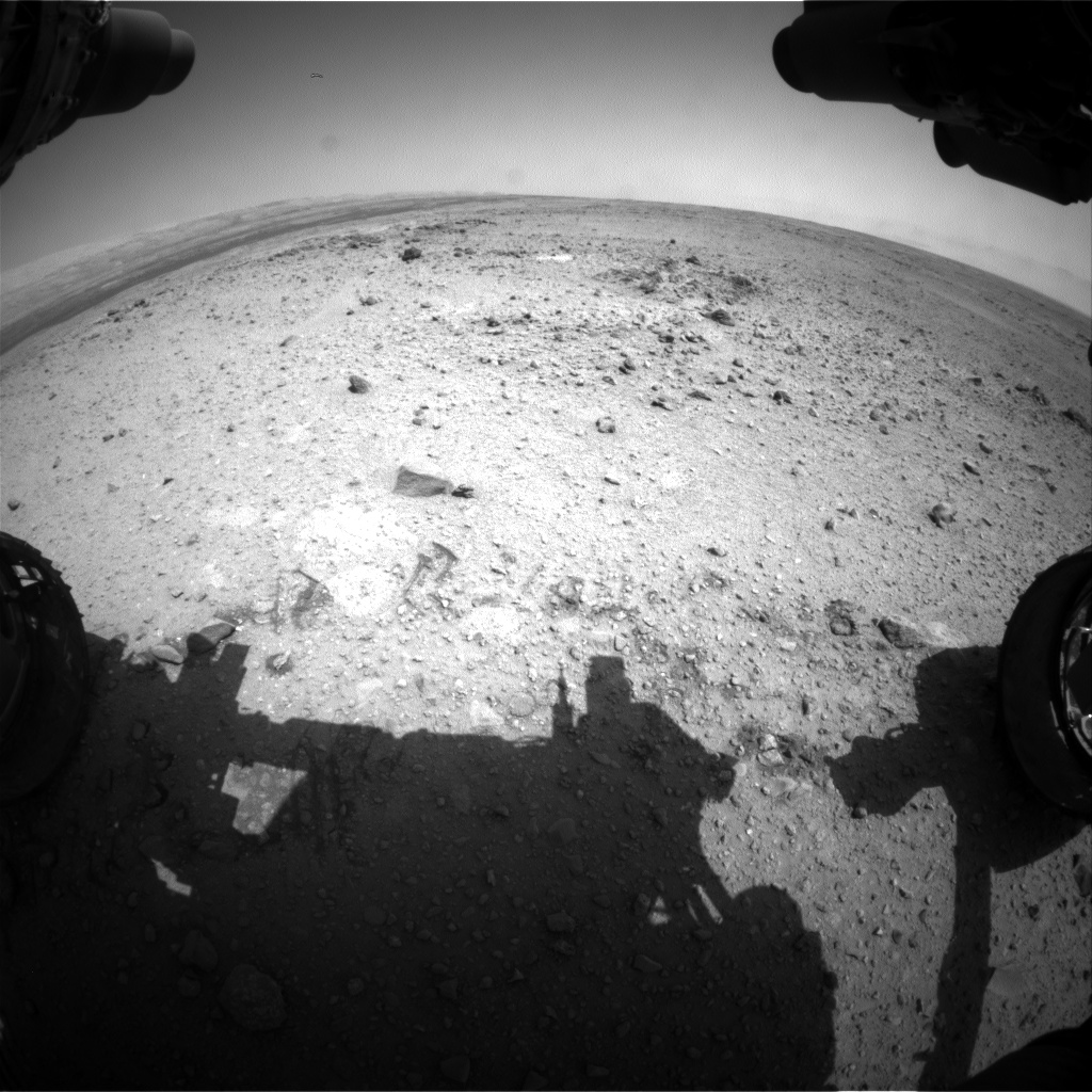Nasa's Mars rover Curiosity acquired this image using its Front Hazard Avoidance Camera (Front Hazcam) on Sol 435, at drive 0, site number 21