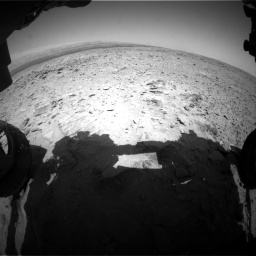 Nasa's Mars rover Curiosity acquired this image using its Front Hazard Avoidance Camera (Front Hazcam) on Sol 436, at drive 246, site number 21