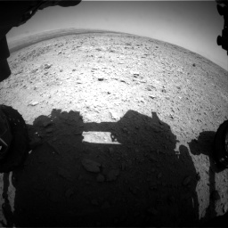 Nasa's Mars rover Curiosity acquired this image using its Front Hazard Avoidance Camera (Front Hazcam) on Sol 436, at drive 300, site number 21