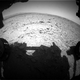 Nasa's Mars rover Curiosity acquired this image using its Front Hazard Avoidance Camera (Front Hazcam) on Sol 436, at drive 342, site number 21