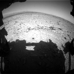 Nasa's Mars rover Curiosity acquired this image using its Front Hazard Avoidance Camera (Front Hazcam) on Sol 436, at drive 354, site number 21