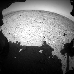 Nasa's Mars rover Curiosity acquired this image using its Front Hazard Avoidance Camera (Front Hazcam) on Sol 436, at drive 402, site number 21