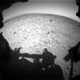 Nasa's Mars rover Curiosity acquired this image using its Front Hazard Avoidance Camera (Front Hazcam) on Sol 436, at drive 534, site number 21