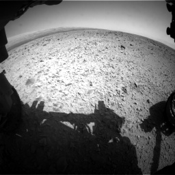 Nasa's Mars rover Curiosity acquired this image using its Front Hazard Avoidance Camera (Front Hazcam) on Sol 436, at drive 540, site number 21