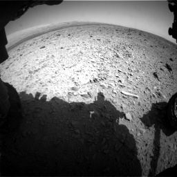 Nasa's Mars rover Curiosity acquired this image using its Front Hazard Avoidance Camera (Front Hazcam) on Sol 436, at drive 570, site number 21
