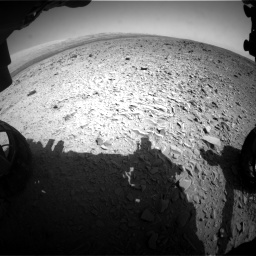 Nasa's Mars rover Curiosity acquired this image using its Front Hazard Avoidance Camera (Front Hazcam) on Sol 436, at drive 588, site number 21