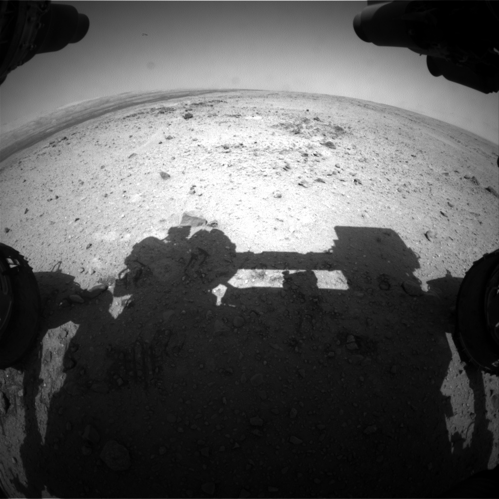 Nasa's Mars rover Curiosity acquired this image using its Front Hazard Avoidance Camera (Front Hazcam) on Sol 436, at drive 0, site number 21