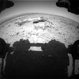Nasa's Mars rover Curiosity acquired this image using its Front Hazard Avoidance Camera (Front Hazcam) on Sol 436, at drive 204, site number 21