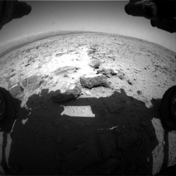 Nasa's Mars rover Curiosity acquired this image using its Front Hazard Avoidance Camera (Front Hazcam) on Sol 436, at drive 222, site number 21
