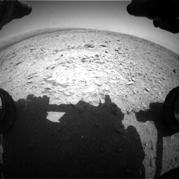 Nasa's Mars rover Curiosity acquired this image using its Front Hazard Avoidance Camera (Front Hazcam) on Sol 436, at drive 336, site number 21