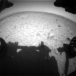 Nasa's Mars rover Curiosity acquired this image using its Front Hazard Avoidance Camera (Front Hazcam) on Sol 436, at drive 384, site number 21