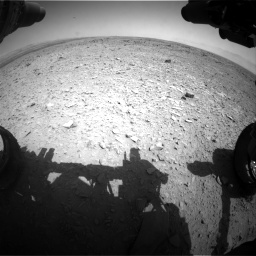 Nasa's Mars rover Curiosity acquired this image using its Front Hazard Avoidance Camera (Front Hazcam) on Sol 436, at drive 396, site number 21