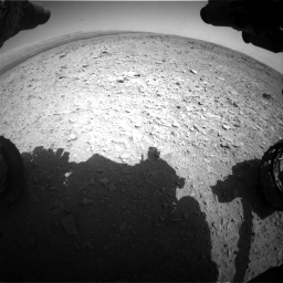 Nasa's Mars rover Curiosity acquired this image using its Front Hazard Avoidance Camera (Front Hazcam) on Sol 436, at drive 420, site number 21