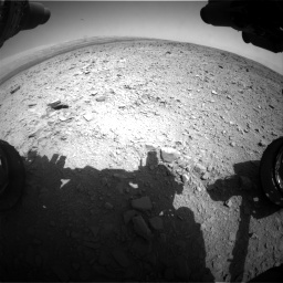 Nasa's Mars rover Curiosity acquired this image using its Front Hazard Avoidance Camera (Front Hazcam) on Sol 436, at drive 486, site number 21