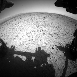 Nasa's Mars rover Curiosity acquired this image using its Front Hazard Avoidance Camera (Front Hazcam) on Sol 436, at drive 528, site number 21