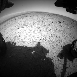 Nasa's Mars rover Curiosity acquired this image using its Front Hazard Avoidance Camera (Front Hazcam) on Sol 436, at drive 546, site number 21