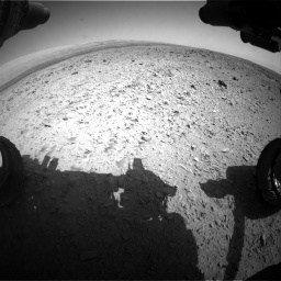Nasa's Mars rover Curiosity acquired this image using its Front Hazard Avoidance Camera (Front Hazcam) on Sol 436, at drive 552, site number 21