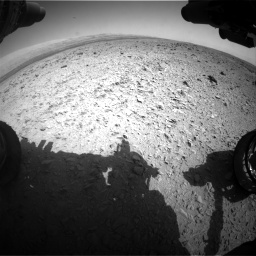 Nasa's Mars rover Curiosity acquired this image using its Front Hazard Avoidance Camera (Front Hazcam) on Sol 436, at drive 558, site number 21