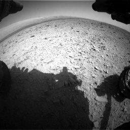 Nasa's Mars rover Curiosity acquired this image using its Front Hazard Avoidance Camera (Front Hazcam) on Sol 436, at drive 576, site number 21