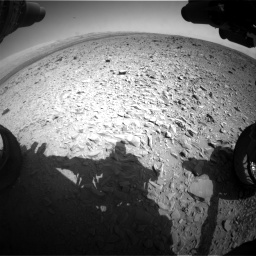 Nasa's Mars rover Curiosity acquired this image using its Front Hazard Avoidance Camera (Front Hazcam) on Sol 436, at drive 594, site number 21