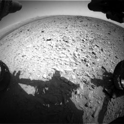 Nasa's Mars rover Curiosity acquired this image using its Front Hazard Avoidance Camera (Front Hazcam) on Sol 436, at drive 600, site number 21