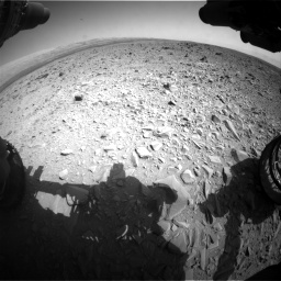 Nasa's Mars rover Curiosity acquired this image using its Front Hazard Avoidance Camera (Front Hazcam) on Sol 436, at drive 618, site number 21