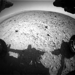 Nasa's Mars rover Curiosity acquired this image using its Front Hazard Avoidance Camera (Front Hazcam) on Sol 436, at drive 624, site number 21