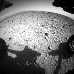 Nasa's Mars rover Curiosity acquired this image using its Front Hazard Avoidance Camera (Front Hazcam) on Sol 436, at drive 630, site number 21