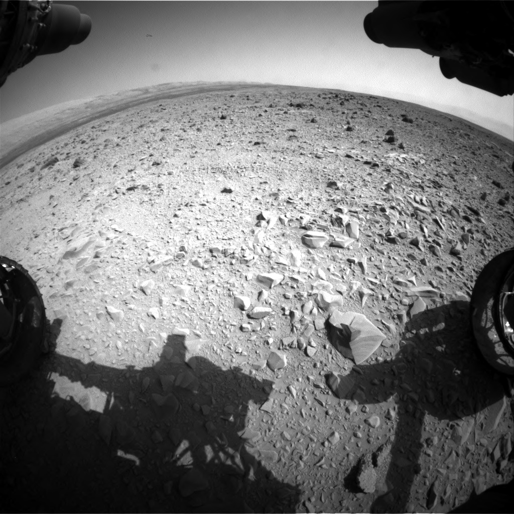 Nasa's Mars rover Curiosity acquired this image using its Front Hazard Avoidance Camera (Front Hazcam) on Sol 436, at drive 636, site number 21