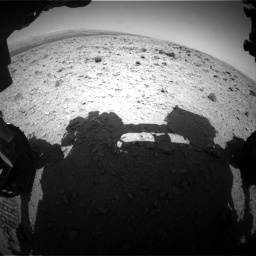 Nasa's Mars rover Curiosity acquired this image using its Front Hazard Avoidance Camera (Front Hazcam) on Sol 437, at drive 682, site number 21