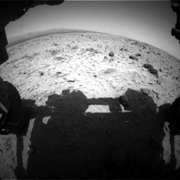 Nasa's Mars rover Curiosity acquired this image using its Front Hazard Avoidance Camera (Front Hazcam) on Sol 437, at drive 718, site number 21