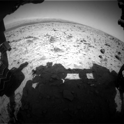 Nasa's Mars rover Curiosity acquired this image using its Front Hazard Avoidance Camera (Front Hazcam) on Sol 437, at drive 730, site number 21